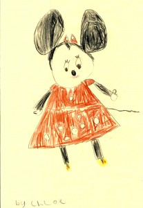 Minnie Mouse - Drawn by Chloe Age 6